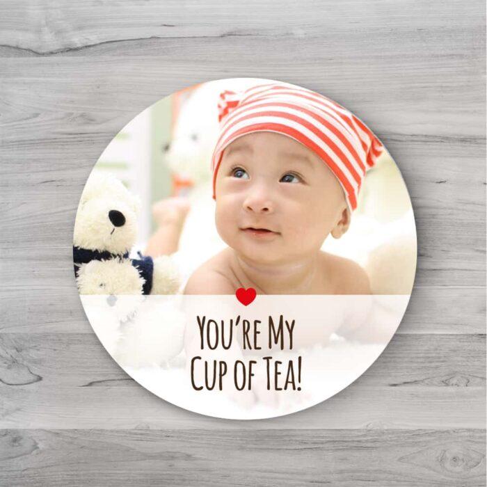 1pc Round tea