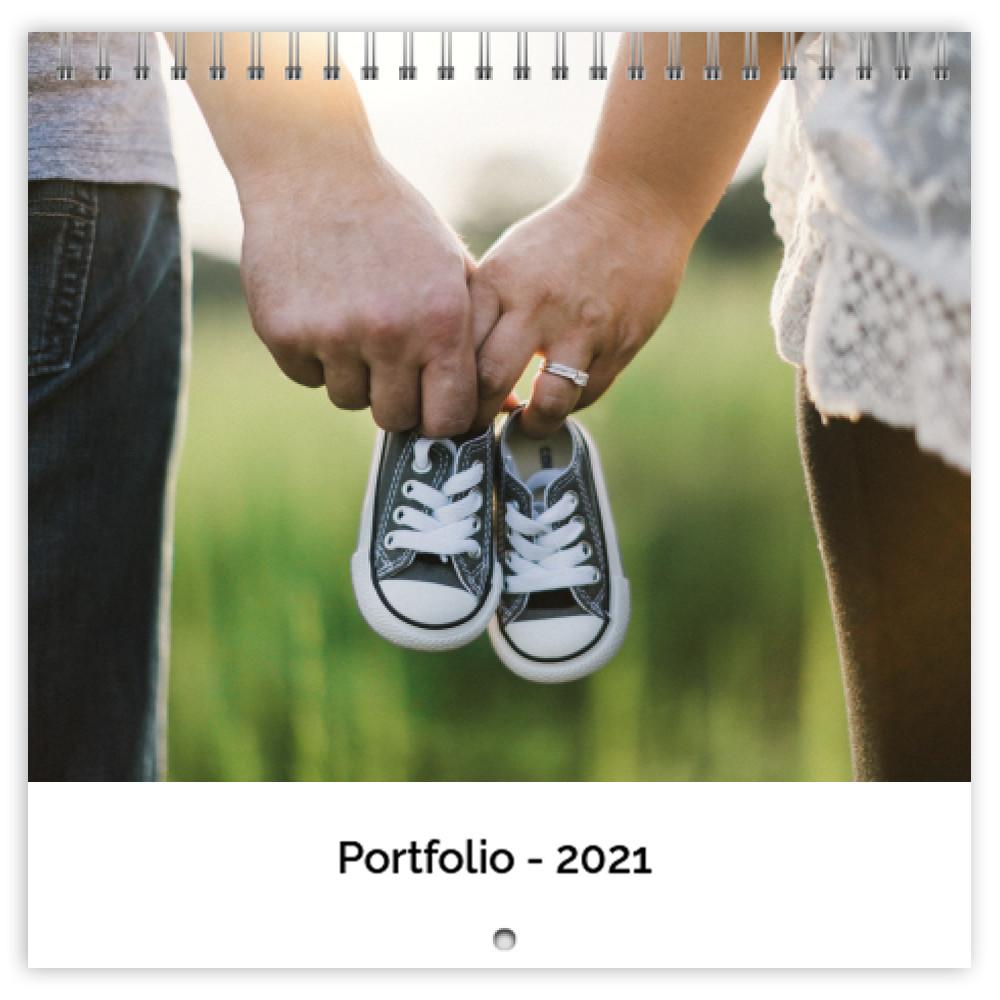 photo calendars portfolio white